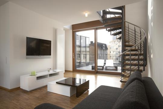 Zimmer luxus penthouse wohnung mit dachterrasse
